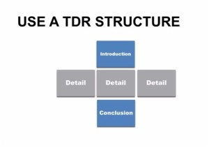 TDR How to write university assignment 2